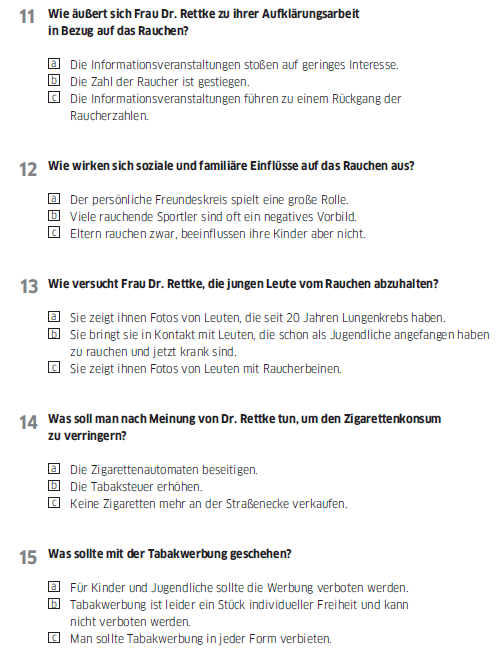 Học tiếng Đức miễn phí với DatTranDeutsch - Bài thi B2 phần nghe 2b