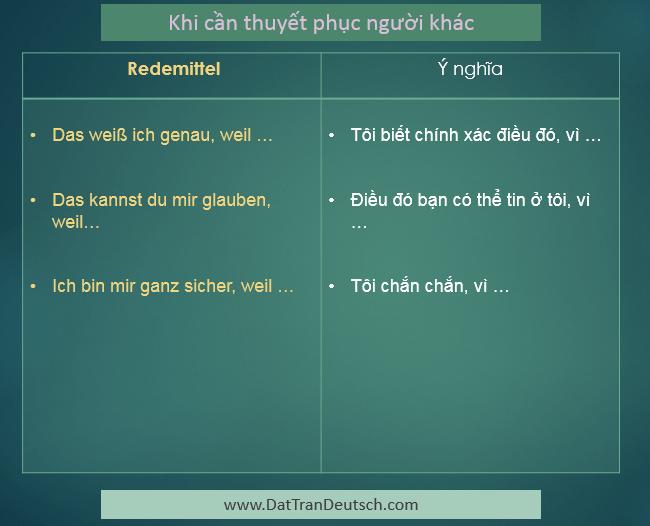 Học tiếng Đức miễn phí với DatTranDeutsch - Các mẫu câu dùng để thuyết phục người khác